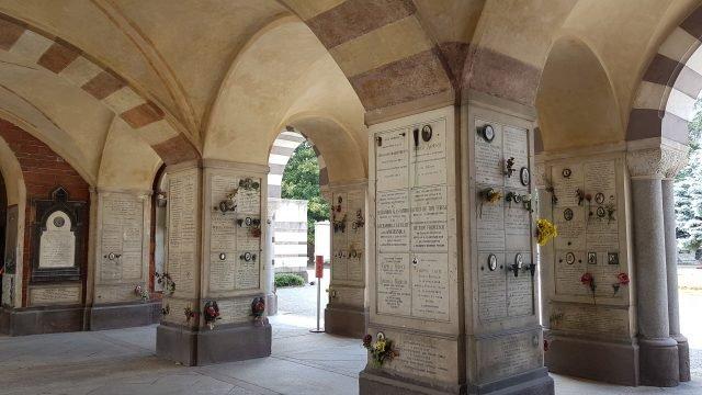 Inside the gate itself cimitero monumentale di milano - my own picture