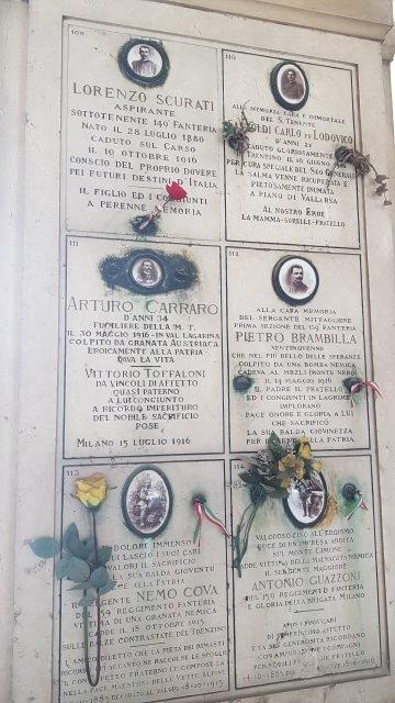 Inside the gate itself cimitero monumentale di milano