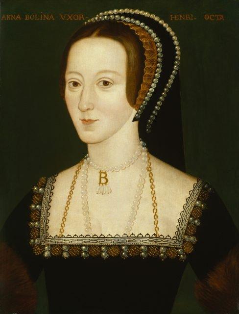 Anne Boleyn, unknown artist via wikipedia public domain