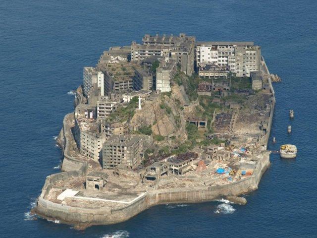 Hashima Island - Abandoned Man via flickr Public Domain