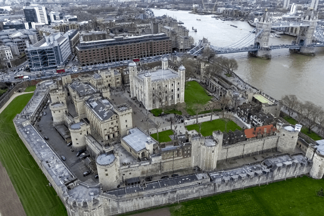 Tower of London overview PhotolondonUK via Getty Images