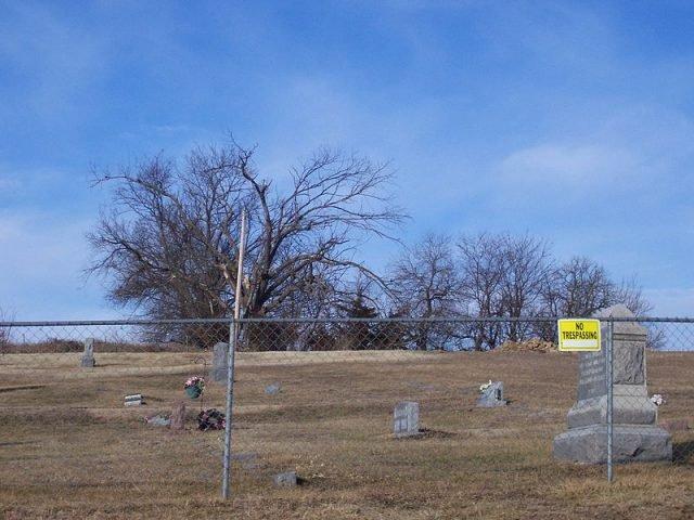 Stull Cemetery - Stephen J. Biles via commons.wikipedia public domain