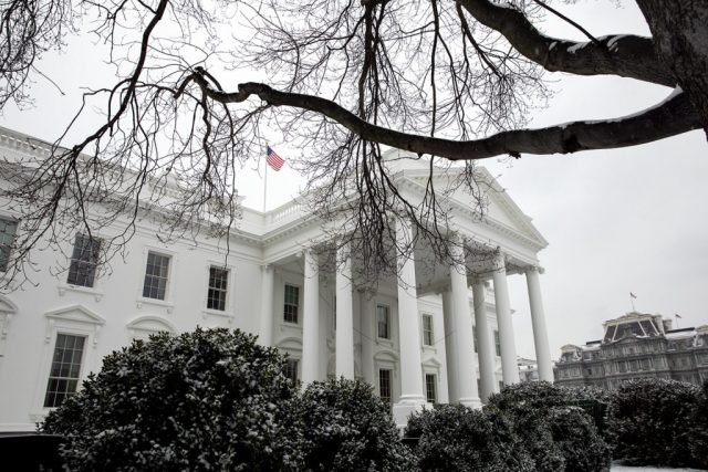 The White House Winter - Picryl