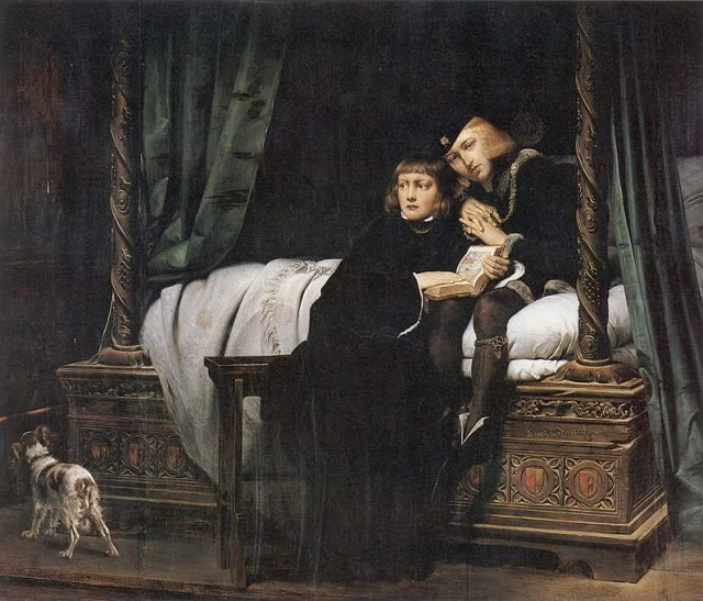 Two princes in The Tower - Paul Delaroche via wikipedia public domain