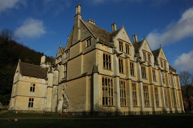 haunted Woodchester Mansion - Philip Halling via commons wikimedia CC BY-SA 2.0